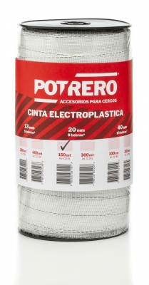 <b>CINTA ELECTROPLÁSTICA TURBO 20mm x 150mt</b>